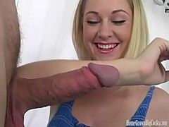 HomeGrownBigCocks Blonde Babe Takes A Hung Cock