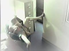 A girl caught masturbating at work 4 by twistedworlds