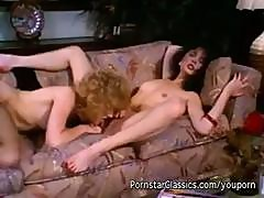 80's Vintage Lesbian Action With Two Horny Chicks Kissing And Eating Pussy