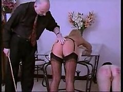 Naughty Girls Punished With The Cane