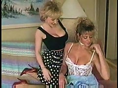 Vintage lesbians in hot licking action