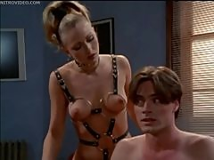 Hot Blonde Dominatrix Jacqueline Lovell Makes Him Her Bitch
