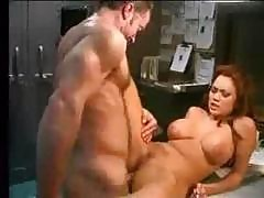 Kira And Randy Spears Have A Passionate Moment In A Dark Lab
