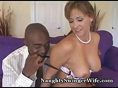 Sean Michaels' Black Cock Slides Its Way Inside A Hot Young Housewife