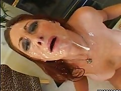 Scorching hot Tiffany Mynx gets an awesome spray of cock sau...